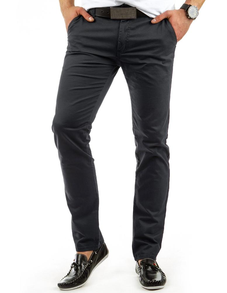 Pánske nohavice chino (ux0055) - grafitové 1