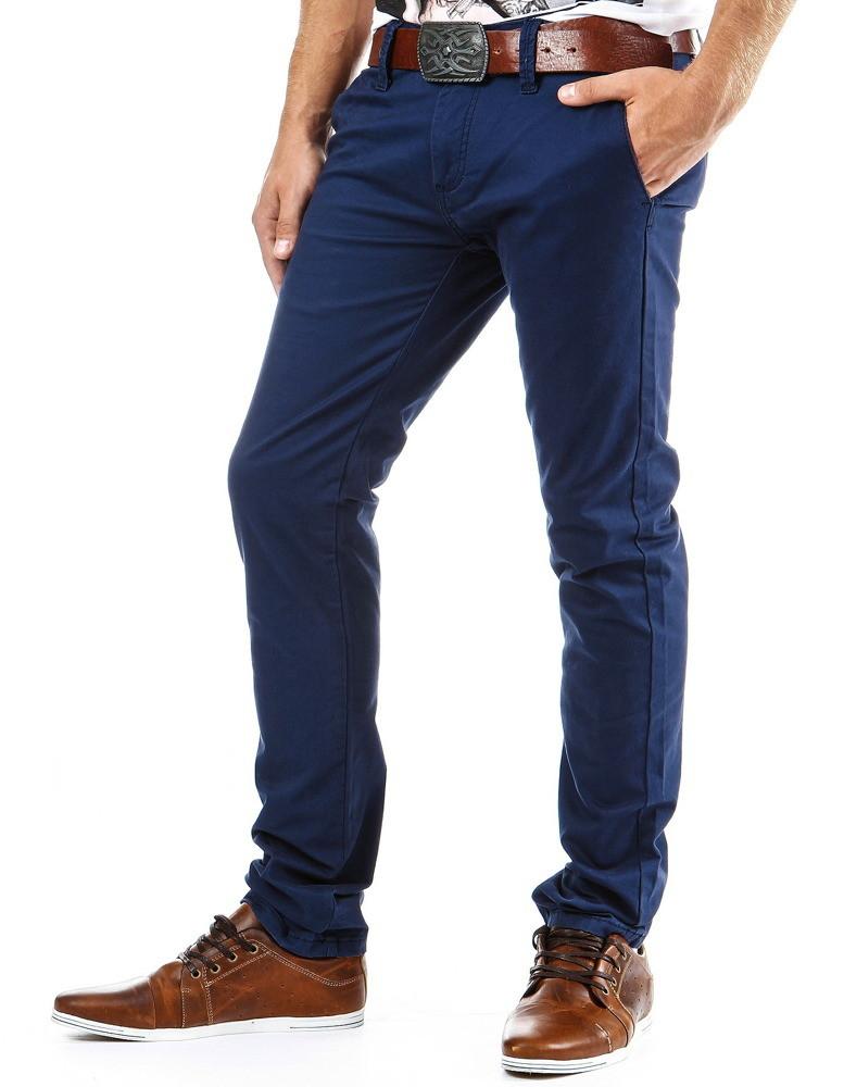 Pánske nohavice chino (ux0058) - granátové 3